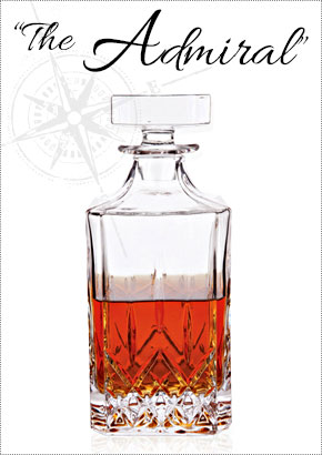 The Admiral Glass Liquor Decanter