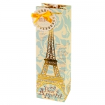 Eiffel Tower Illustrated Bottle Bag