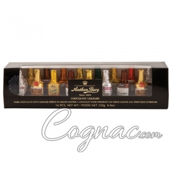 Anthon Berg Chocolate Bottles with Liqueur (16-Piece Set)